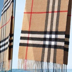 低至5折+额外8折Burberry 经典围巾热卖 羊绒围巾$200+,羊绒围巾$159