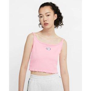 Nike粉色吊带上衣