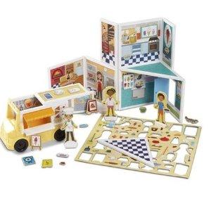 $25 (原价$67.99)白菜价:Melissa & Doug 披萨&冰淇淋店 105片磁性拼搭玩具