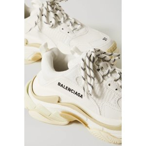 BalenciagaTriple S logo-embroidered leather, nubuck and mesh sneakers