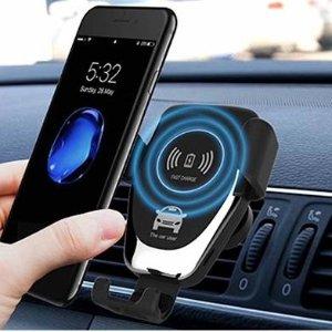 $17(原价$49)智能传感车载无线充电器  带支架 Apple&Android通用 $17收封面