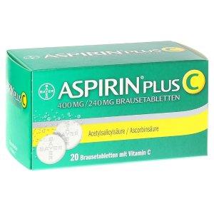 Aspirin plus C, 20 粒泡腾片