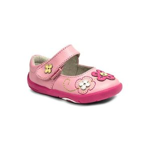 pediped小童 Lorraine 花朵小皮鞋