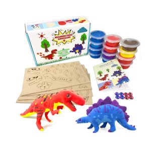 UNGLINGA Create Your Own Air Dry Clay Dinosaur Figures Kids Arts and Crafts Toys