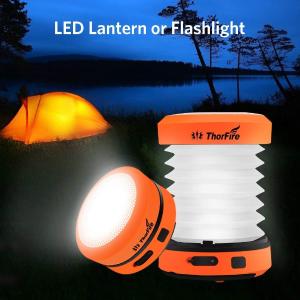 $13.29(原价$25.99)手慢无:ThorFire 可折叠USB 充电多功能LED露营灯