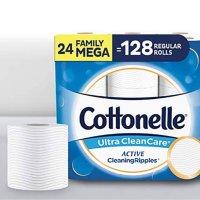 Cottonelle 卫生纸24卷超大家庭装 相当于128卷普通卷