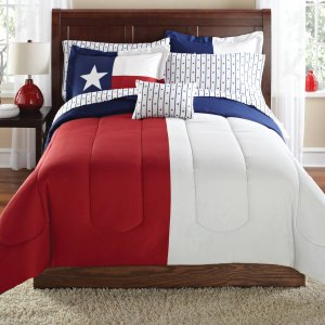 Mainstays Texas Star Bed in a Bag Coordinated Bedding