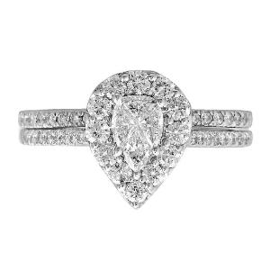 1 ct. tw. Multi-Diamond Engagement Ring Set in 14K White Gold