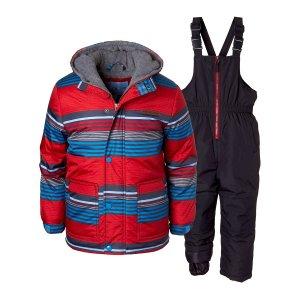 da16a1ba7 WippetteRed Stripe Puffer Coat & Snow Bibs - Infant, Toddler & Boys