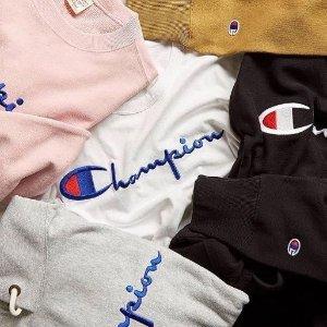 低至3折,$4.4起!最火潮牌Champion 服饰超低价促销