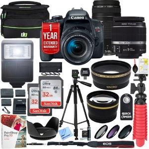 699.99 赠相机包内存卡黑五价:Canon EOS T7i 单反套机 18-55 + 55-250mm 双镜头