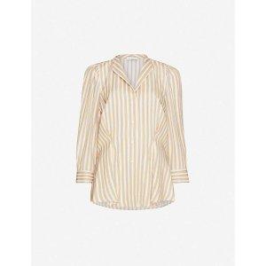 SandroAnya striped woven shirt