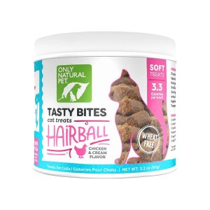 Only Natural PetBuy 1 Get 1 50% OffTasty Bites Wheat Free Hairball Cat Treats