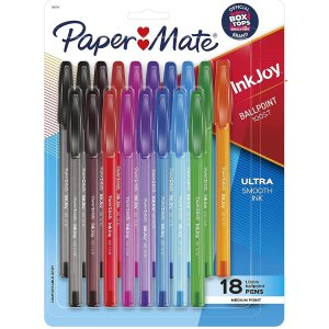 史低价:Paper Mate InkJoy 超顺滑彩色圆珠笔18支