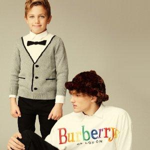 低至3折 $98收字母TeeBurberry 儿童特价区闪现好折 精致又可爱