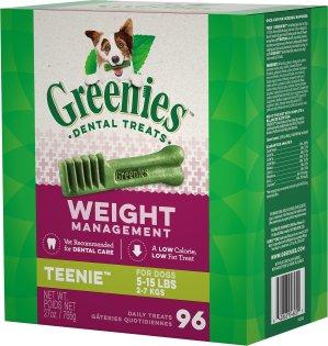$19.59Greenies 洁牙棒Teenie 96支 5-15磅 对体重控制有效
