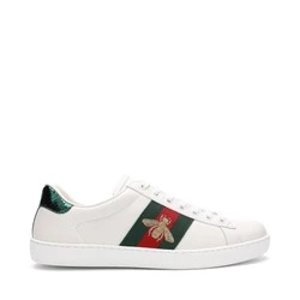 Gucci满$799可减$50男士蜜蜂小白鞋