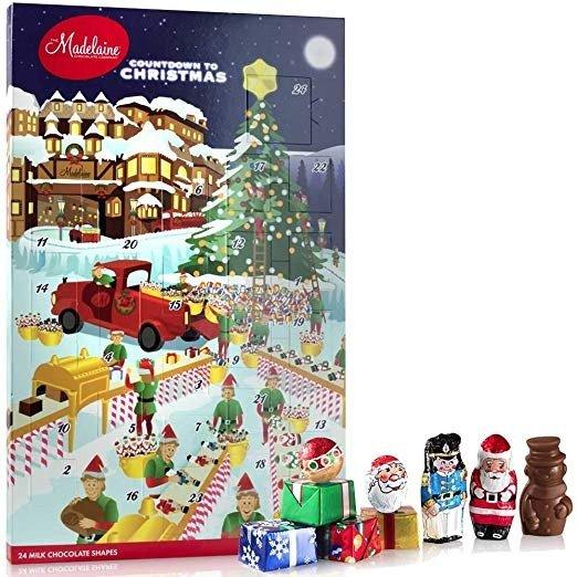 牛奶巧克力圣诞日历 24颗装