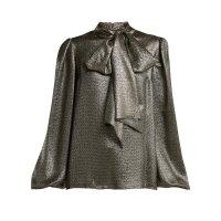 Saint Laurent 丝绸蝴蝶结衬衣