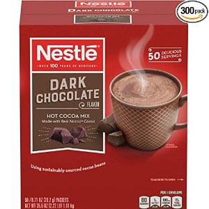 现价$43.37(原价$57.83)雀巢黑巧克力味热可可粉 超值分享装300包