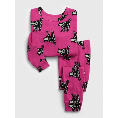 babyGap Black Cat Graphic Long Sleeve PJ Set