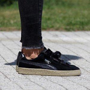 36码仅¥280Puma Suede Heart Safari 蝴蝶结丝带鞋