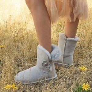 低至4.5折UGG 雪地靴反季囤 收粉色蝴蝶结款