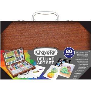 史低$14.55(原价$20.79)限今天:Crayola绘儿乐 木质艺术画笔工具盒 内含80+画笔工具