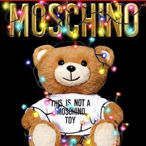 低至2折+部分额外8.5折折扣升级:Moschino 罕见冰点价 速抢小熊卫衣、logo渔夫鞋