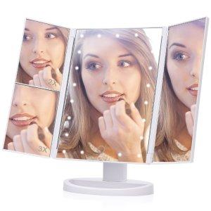 10.99 (原价$39.99)闪购:EECOO LED 灯3倍放大无死角化妆镜