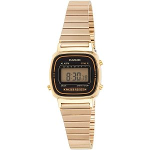 CasioWomen's Vintage LA670WGA-1DF Daily Alarm Digital Gold-tone Watch