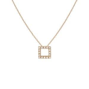方形钻石项链