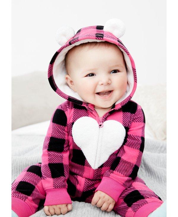 婴儿抓绒连体衣