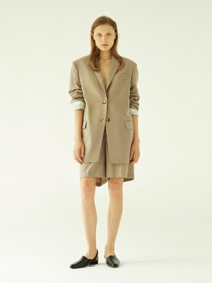 Short Wide Shorts Beige  | W Concept