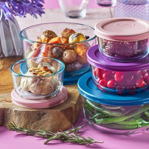 Corelle10-piece Glass Food Storage Container Set with Lids