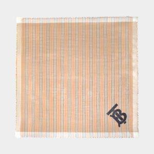 Burberry新款LOGO围巾