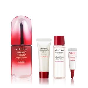 送2个小样 单50ml精华就€112惊喜补货:正价7折 价值€148 资生堂Shiseido 红腰子4件礼盒仅€74.16