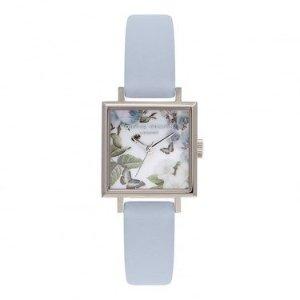 Olivia Burton方型婴儿蓝手表