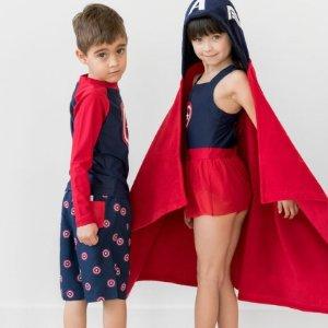 4折起+新用户额外8折Hanna Andersson 儿童泳衣、防晒服、沙滩浴巾等促销