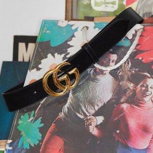 $290(成人款$500+)Gucci 双G腰带大童款 L码在线,2.5cm宽超适合夏天