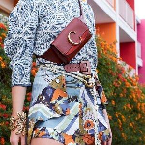 低至7折 C扣腰包$626Chloe 精选美鞋美包热卖 入经典Faye,小猪包,新款C扣包