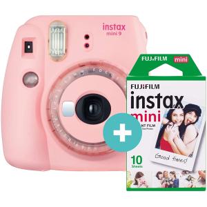 折后仅€70 送一盒相纸Instax Mini 9 拍立得 买来不后悔 这个套装没涨价