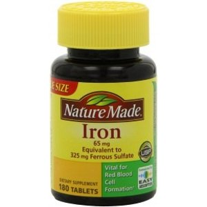 Nature MadeIron, 65 mg, Tablets, Value Size, 180 tablets