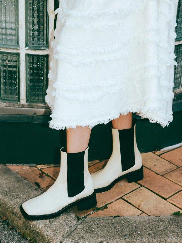 Beryl 方头短靴
