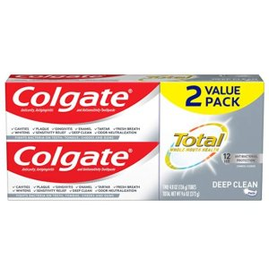 Colgate Total Toothpaste Deep Clean - 4.8 ounce (2 Pack)