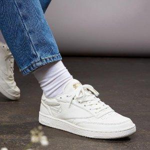 折上折,第2件额外7.5折 + 任意单免邮白菜价:Reebok 鞋履,服饰折上折促销,收小白鞋啦