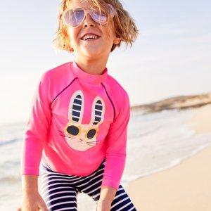 7折 泳衣也能这么可爱Mini Boden官网 儿童防晒泳衣、沙滩服饰周末热卖