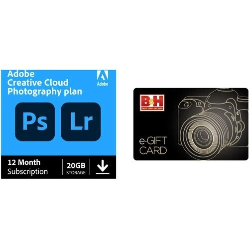 Creative Cloud Photography 12月订阅 数字版 + $20 礼卡
