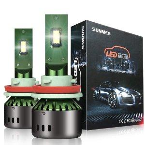 $19.99SUNMEG LED Headlight Bulbs H11/H8/H9, 60W 8000LM 6000K Cool White