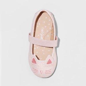 5f124bb3a289 Cat & JackToddler Girls' Hassie Cat Critter Ballet Flats - Cat ...